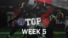 Video: Top 5 - Week 5 Player Rankings Cover Image