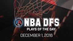 VIDEO: NBA DFS PLAYS OF THE DAY – December 1, 2016 Cover Image