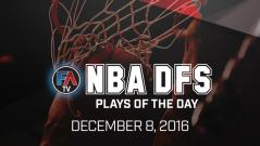 Video: NBA DFS PLAYS OF THE DAY – December 8, 2016 Cover Image