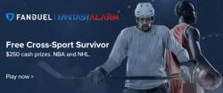 FREE $250 NBA/NHL Survivor Contest on FanDuel! Cover Image