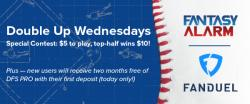 Welcome to Double Up Wednesdays on FanDuel Cover Image