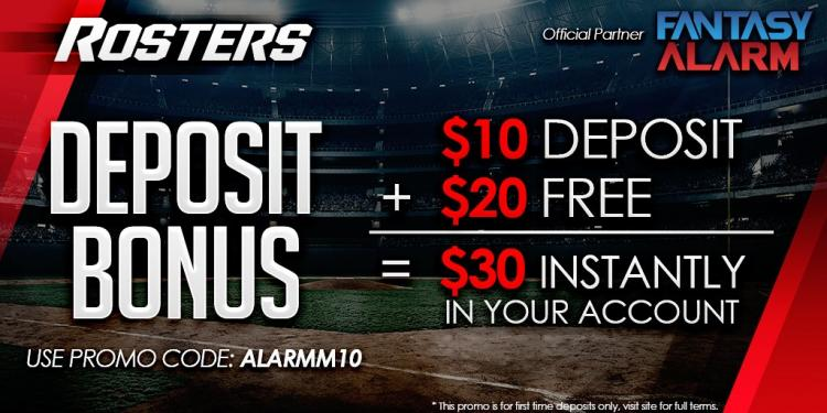 Rosters.com Fantasy Alarm Promotion Cover Image