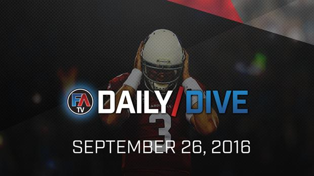 Video: NFL Daily Dive - September 26, 2016 Cover Image