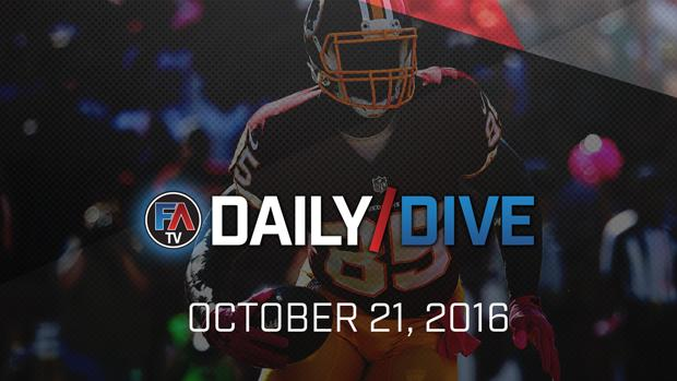 Video: NFL Daily Dive - October 21, 2016 Cover Image