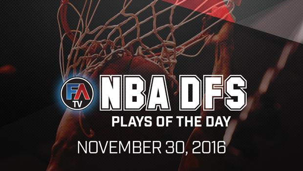 VIDEO: NBA DFS PLAYS OF THE DAY - NOVEMBER 30, 2016 Cover Image
