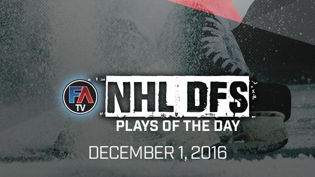 VIDEO: NHL DFS PLAYS OF THE DAY – DECEMBER 1, 2016 Cover Image