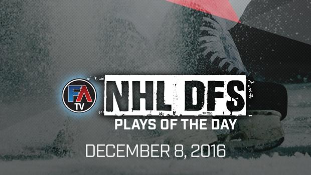 Video: NHL DFS PLAYS OF THE DAY – DECEMBER 8, 2016 Cover Image
