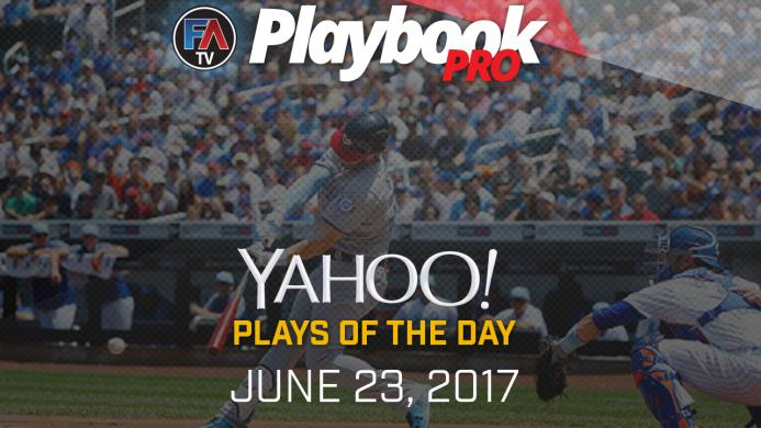 Video: DFS Hitting Plays of the Day -June 23, 2017 Cover Image