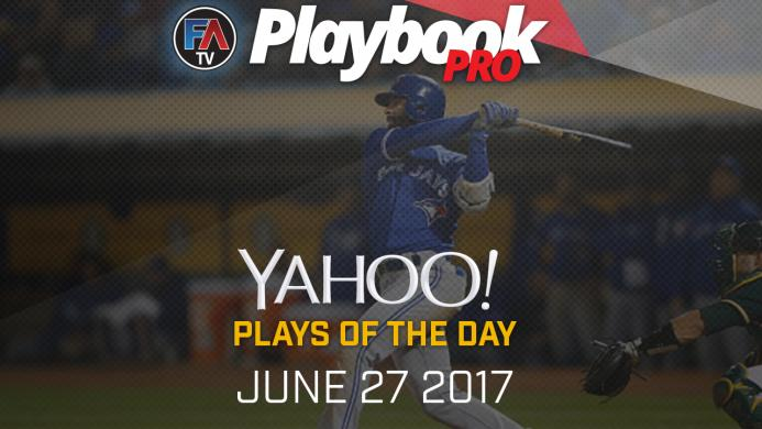 Video: DFS Hitting Plays of the Day - June 27, 2017 Cover Image