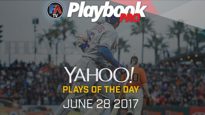 Video: DFS Hitting Plays of the Day - June 28, 2017 Cover Image