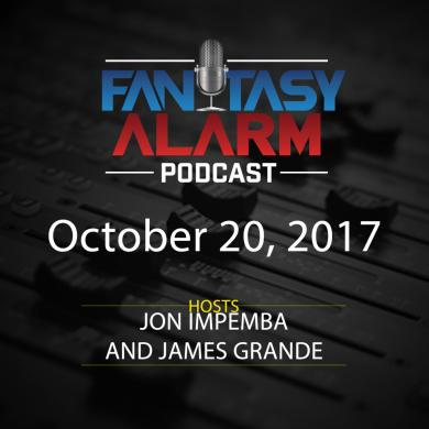 2017 Fantasy Alarm NBA DFS Podcast: October 20 Cover Image