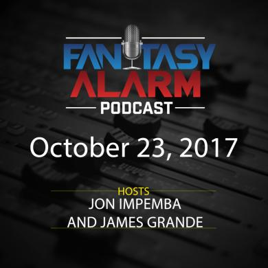 2017 Fantasy Alarm NBA DFS Podcast: October 23 Cover Image