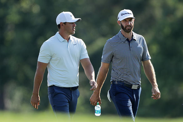 Simpson ties course record for Players lead, Woods scrapes in