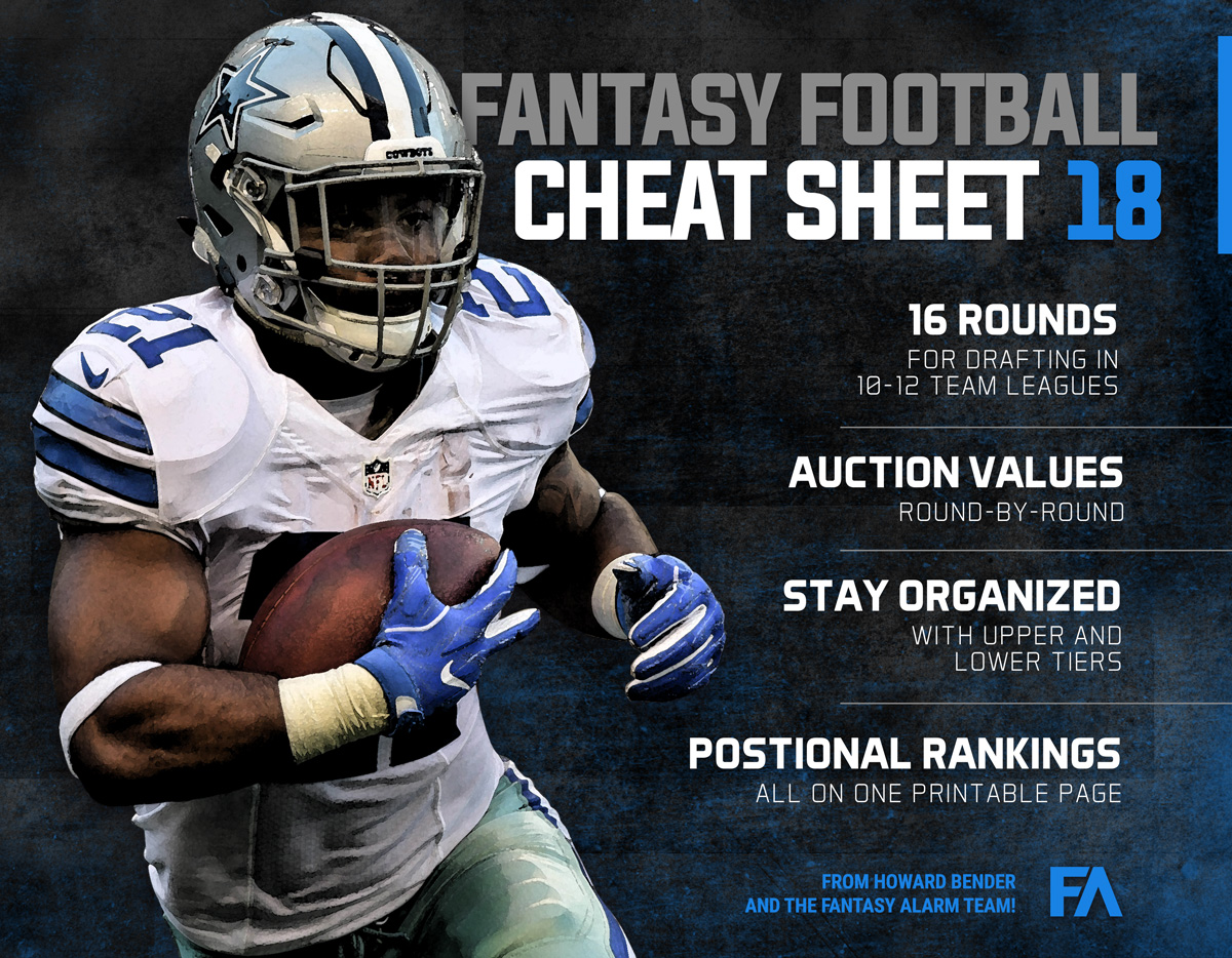 Fantasy Alarm Claim 2018 Nfl Ultimate Cheat Sheet