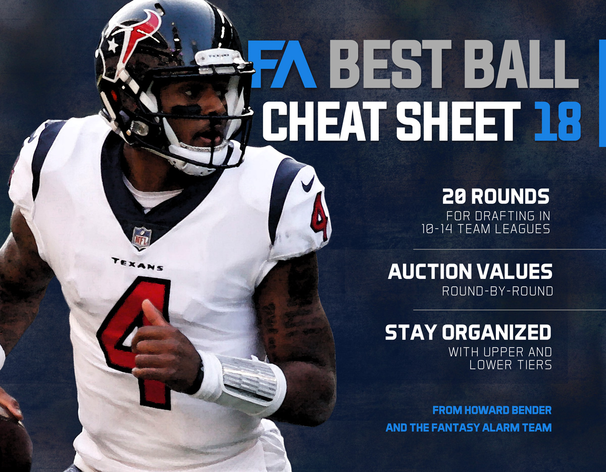 Claim your free 2018 NFL Best Ball Cheat Sheet