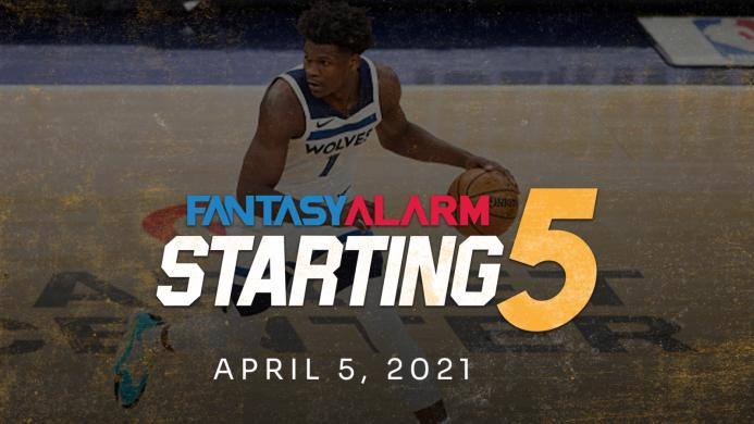 NBA DFS Starting Five: April 5