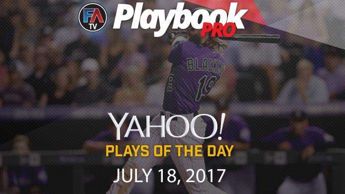 Video:DFS Hitting Plays of the Day - July 18, 2017