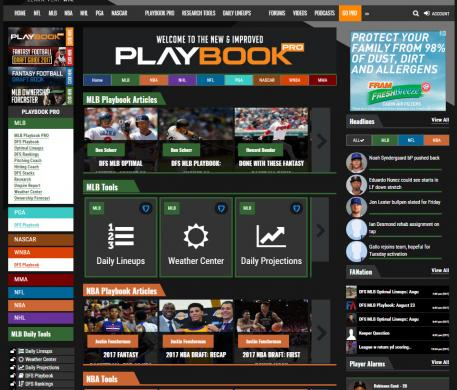Dominate Seasonal and Daily Fantasy Sports with Playbook PRO