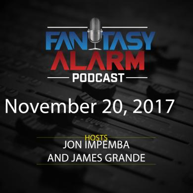 2017 Fantasy Alarm NBA DFS Podcast: November 20 Cover Image