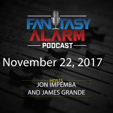 2017 Fantasy Alarm NBA DFS Podcast: November 22 Cover Image