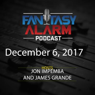 2017 Fantasy Alarm NBA DFS Podcast: December 6 Cover Image