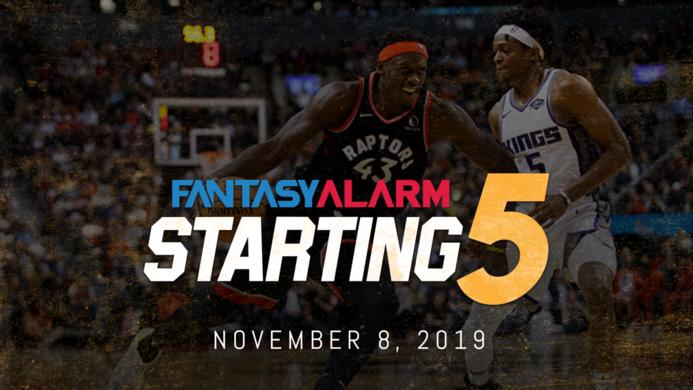 NBA DFS Starting Five: November 8