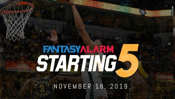 NBA DFS Starting Five: November 18