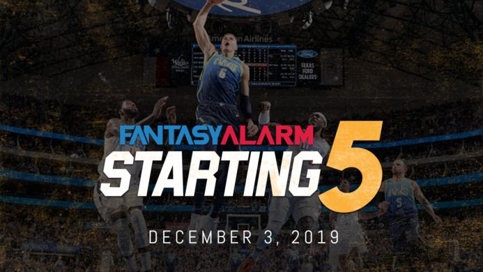NBA DFS Starting Five - December 3