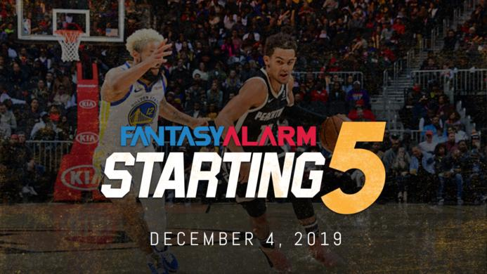 NBA DFS Starting Five: December 4