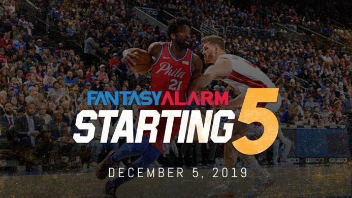 NBA DFS Starting Five: December 5