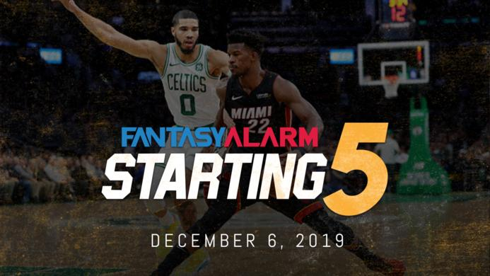 NBA DFS Starting Five: December 6
