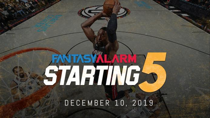 NBA DFS Starting Five: December 10
