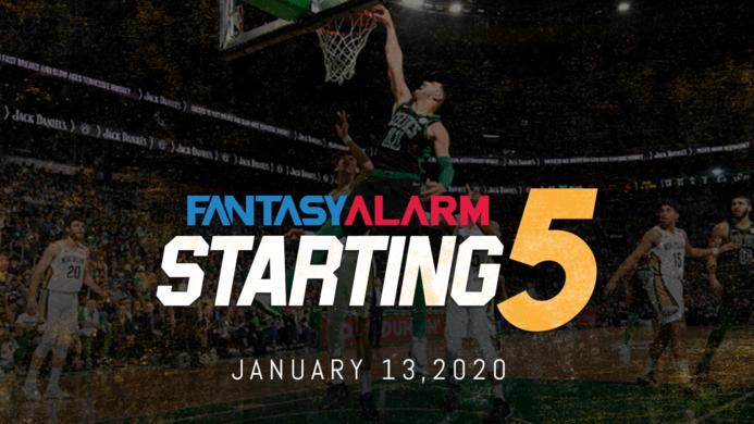 NBA DFS Starting Five: January 13