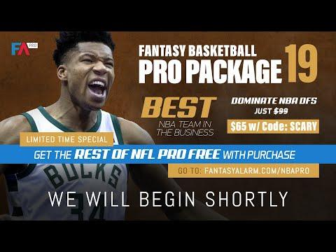 Fantasy Alarm NBA DFS Live - January 15 with James Grande & Sean Mitchell