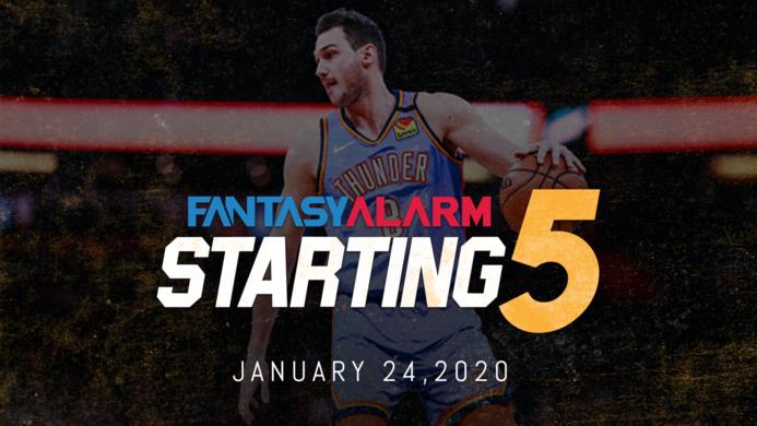 NBA DFS Starting Five: January 24