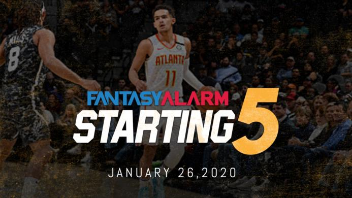 NBA DFS Starting Five - January 26 Cover Image