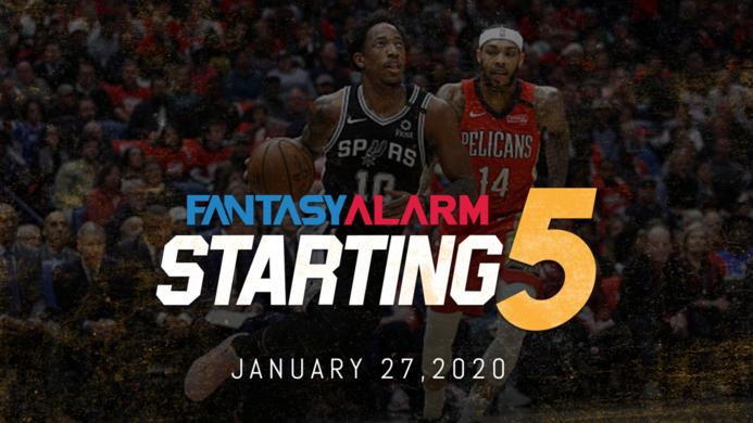 NBA DFS Starting Five: January 27