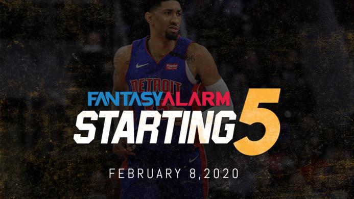 NBA DFS Starting Five - February 8