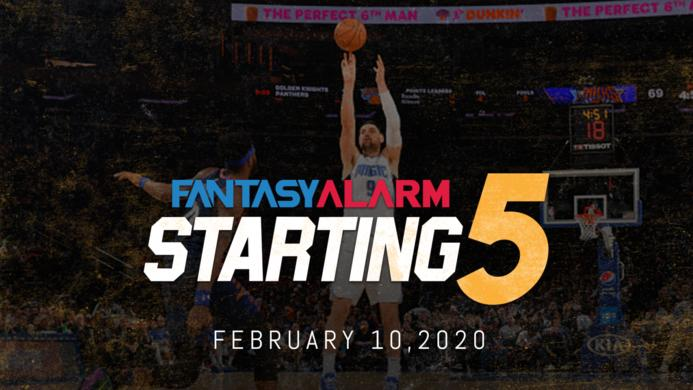 NBA DFS Starting Five: February 10