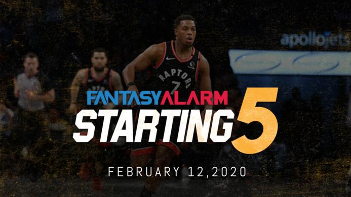 NBA DFS Starting Five: February 12