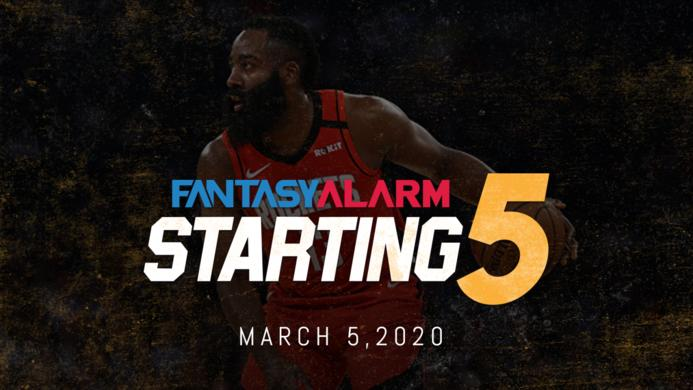 NBA DFS Starting Five: March 5