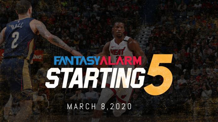 NBA DFS Starting Five: March 8