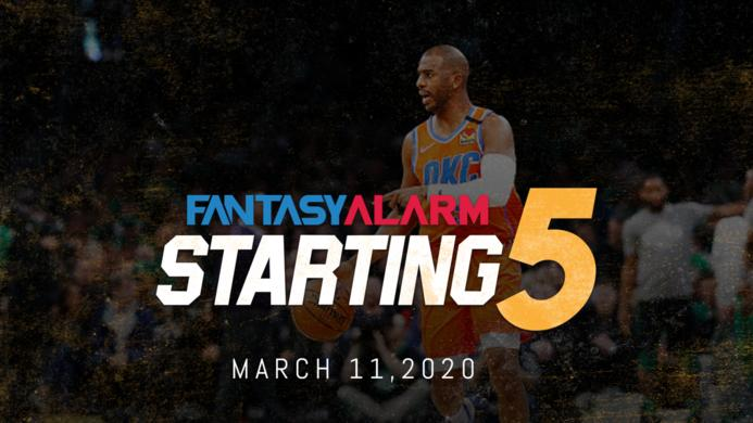 NBA DFS Starting Five - March 11