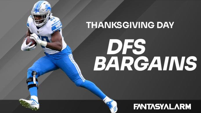Fantasy Football DFS Bargains: Thanksgiving Day (Video)