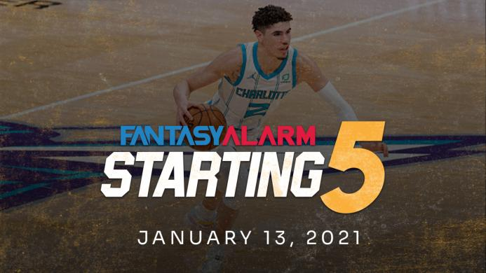 NBA DFS Starting Five: January 13 (Video)