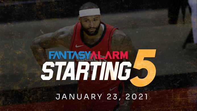 NBA DFS Starting Five: January 23 (Video)