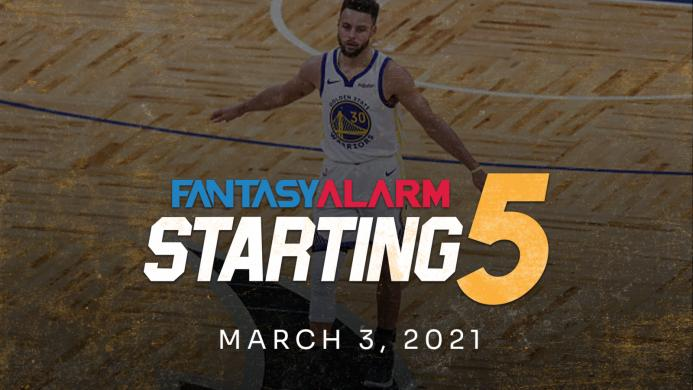 NBA DFS Starting Five: March 3